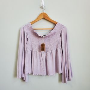 NWT AE off the Shoulder Peasant Top